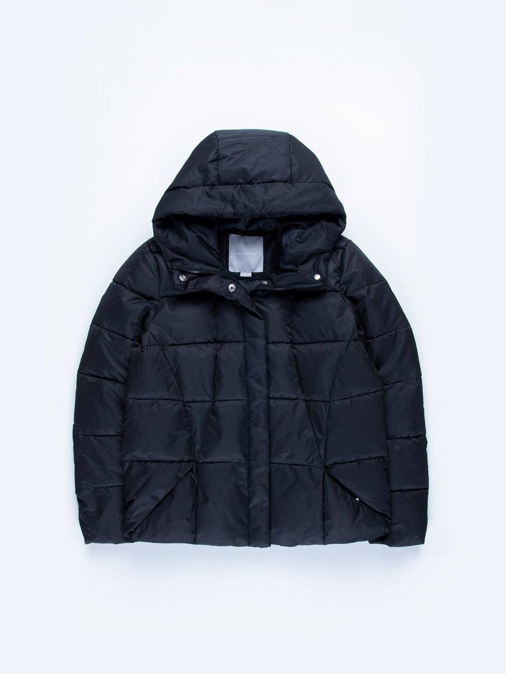 Quilted padded boxy jacket with hood
