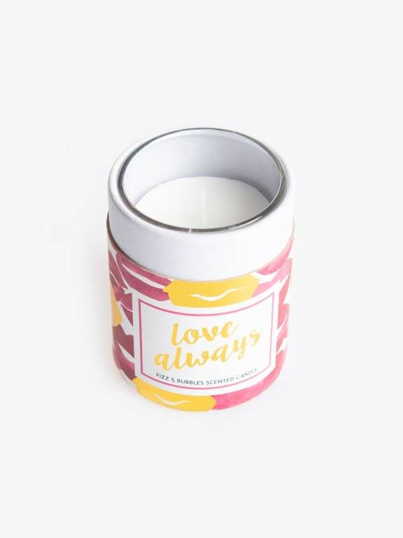 True champagne scented candle in box