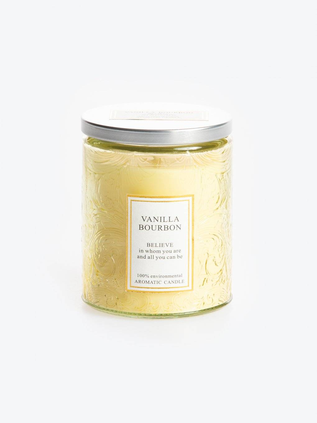 Vanilla bourbon scented candle