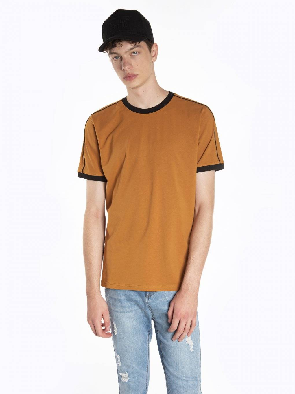 T-shirt with contrast trims