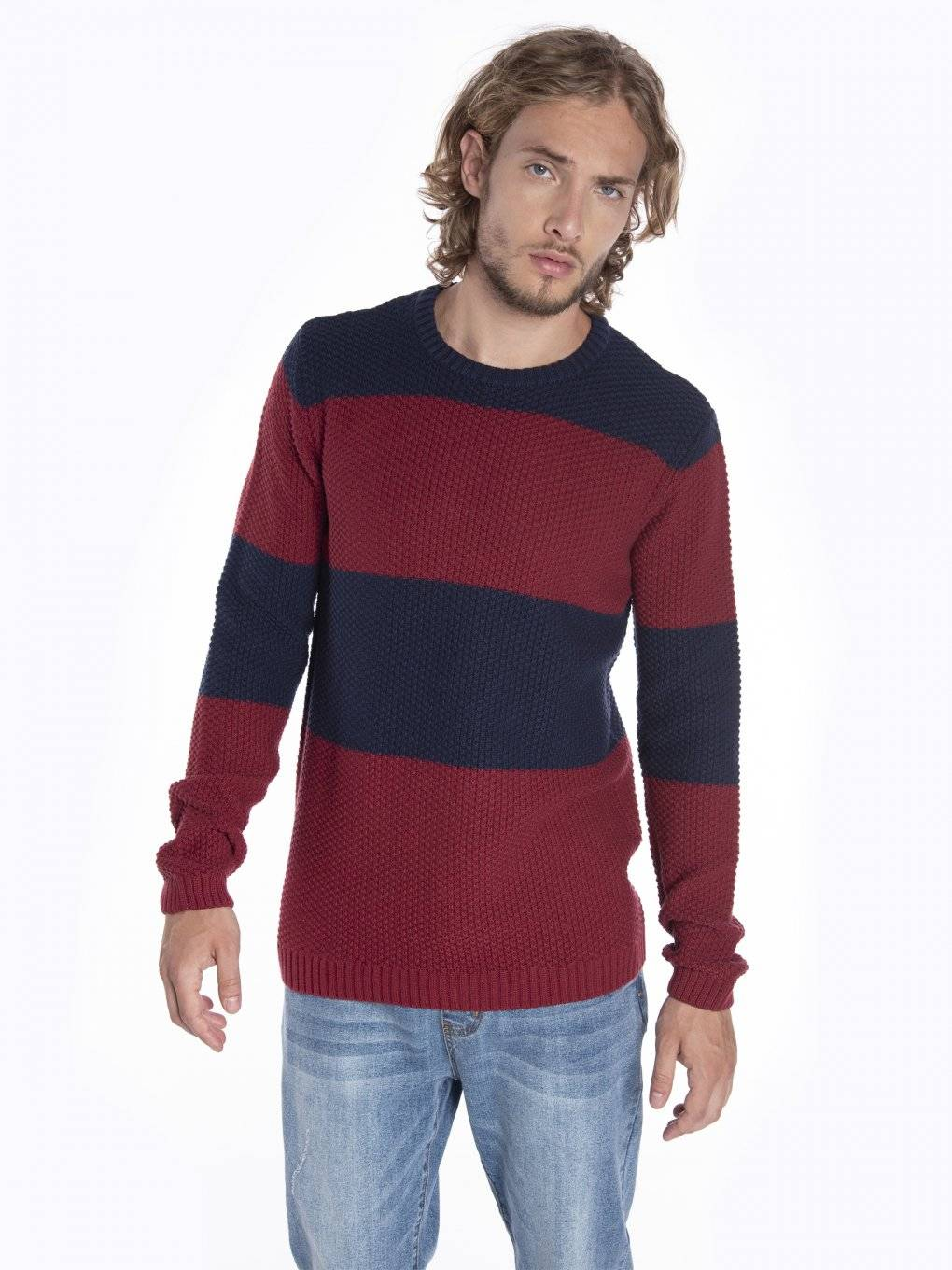 Striped structured jumper