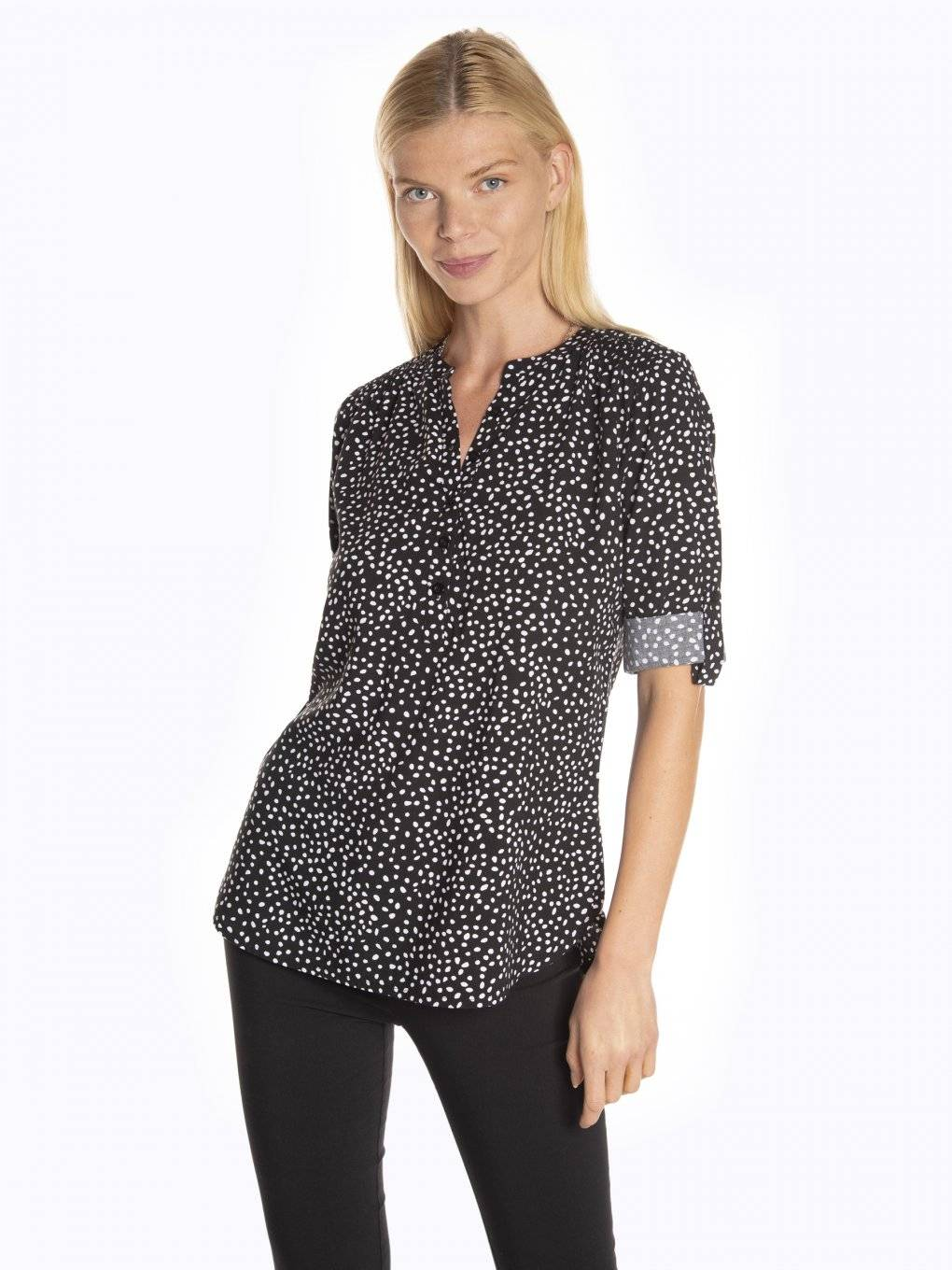 Printed viscose blouse