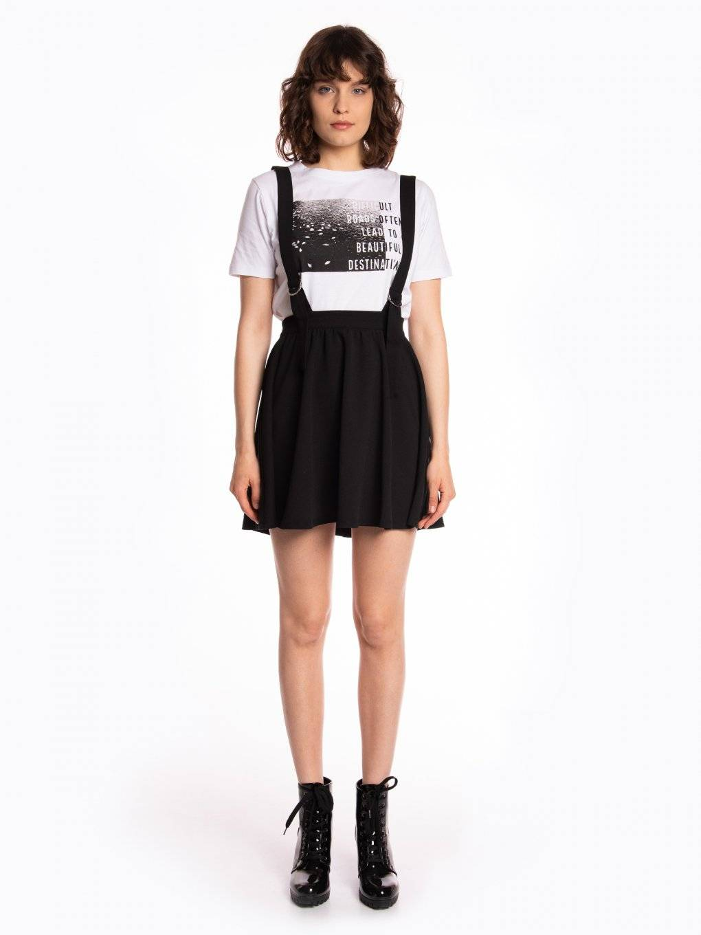 Skater skirt with braces