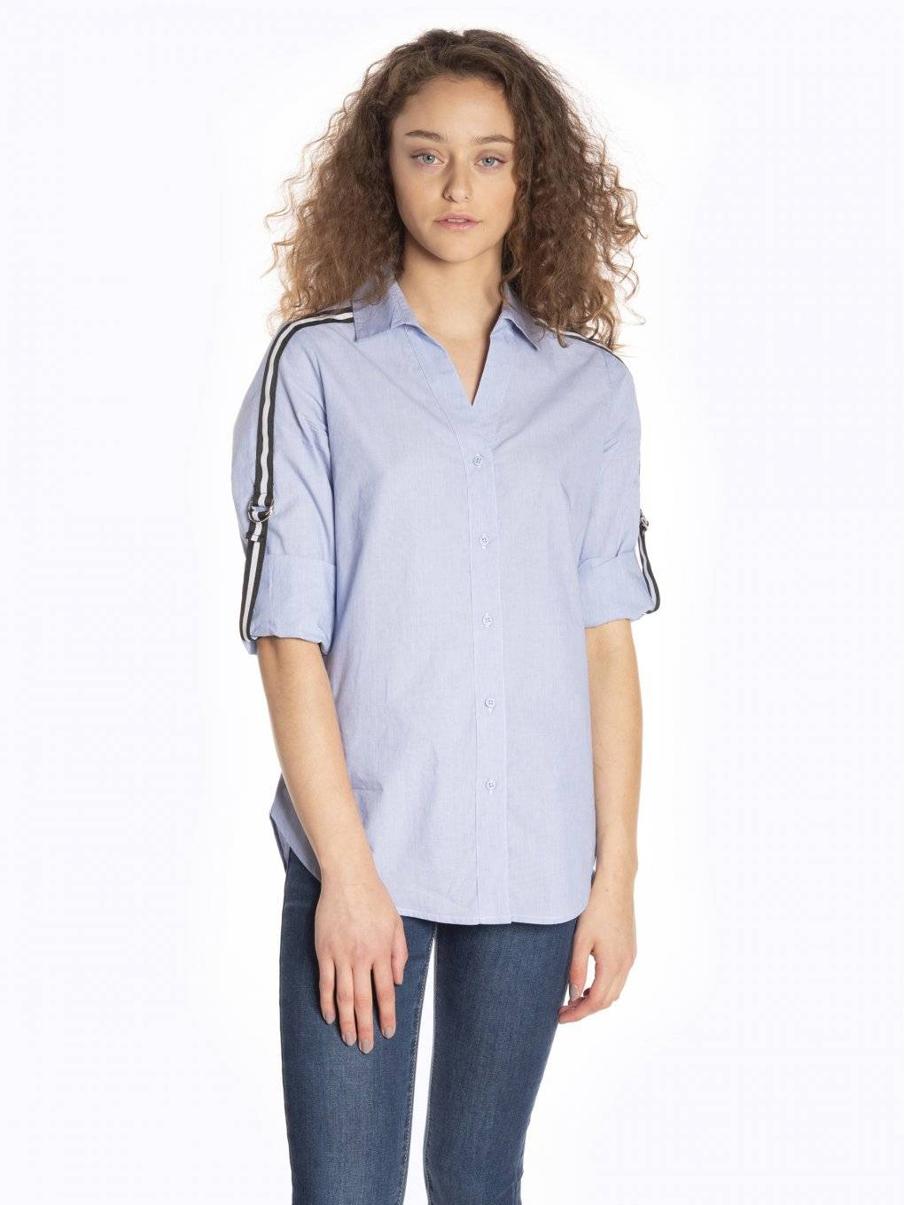 Taped cotton shirt