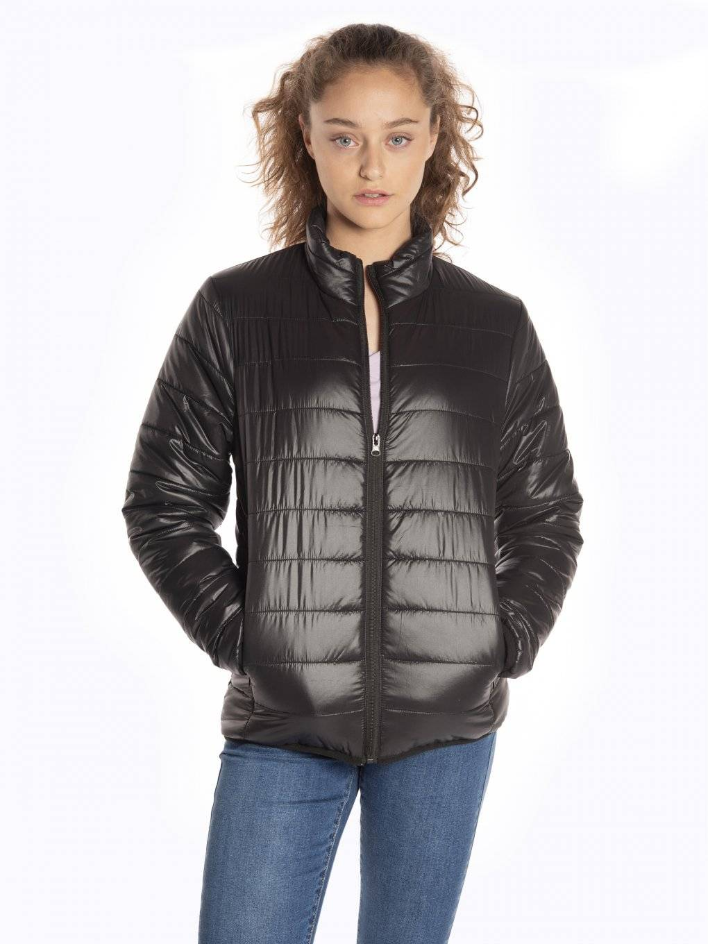 Basic quilted light padded packable jacket