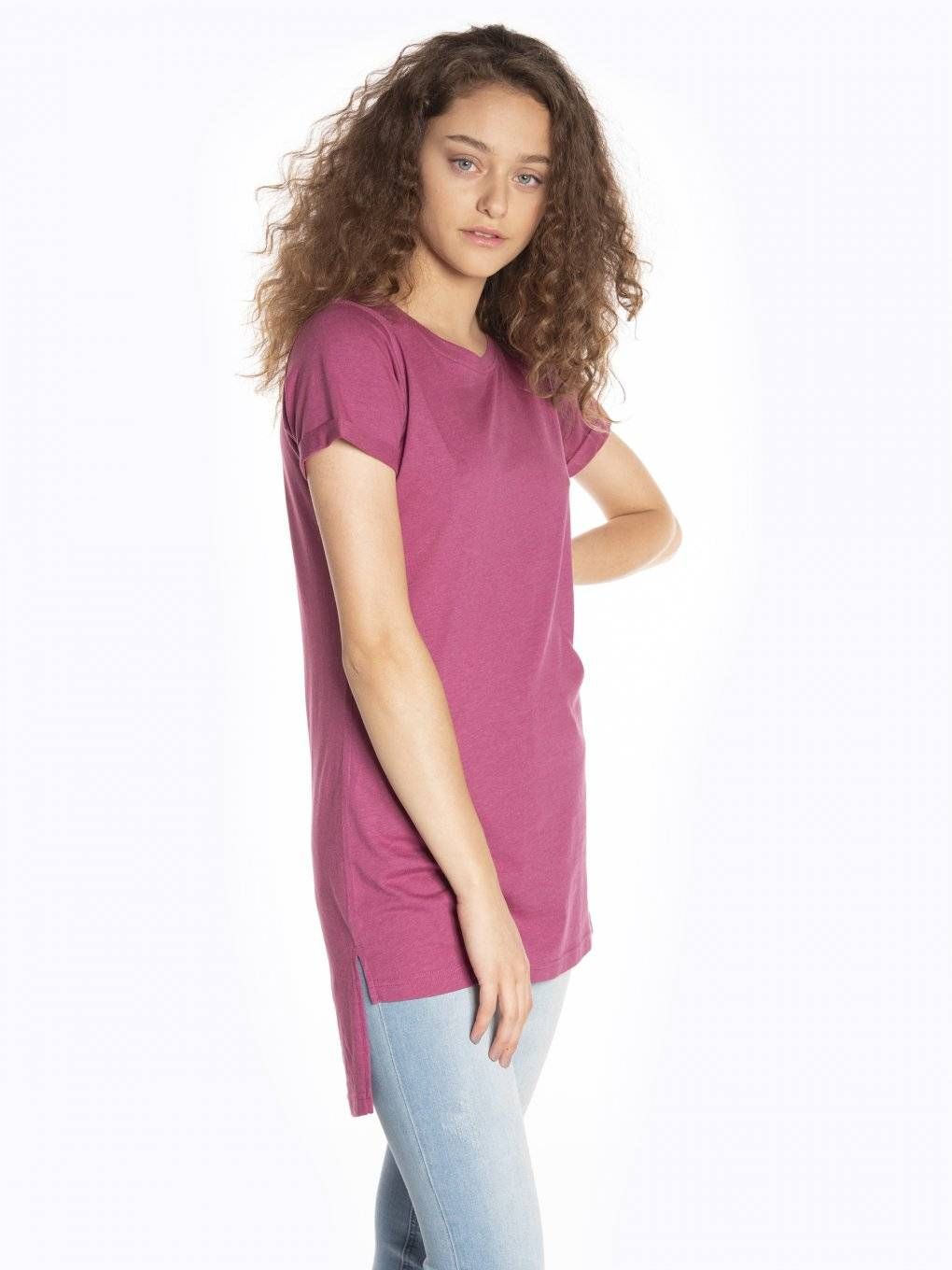 Basic longline short sleeve t-shirt