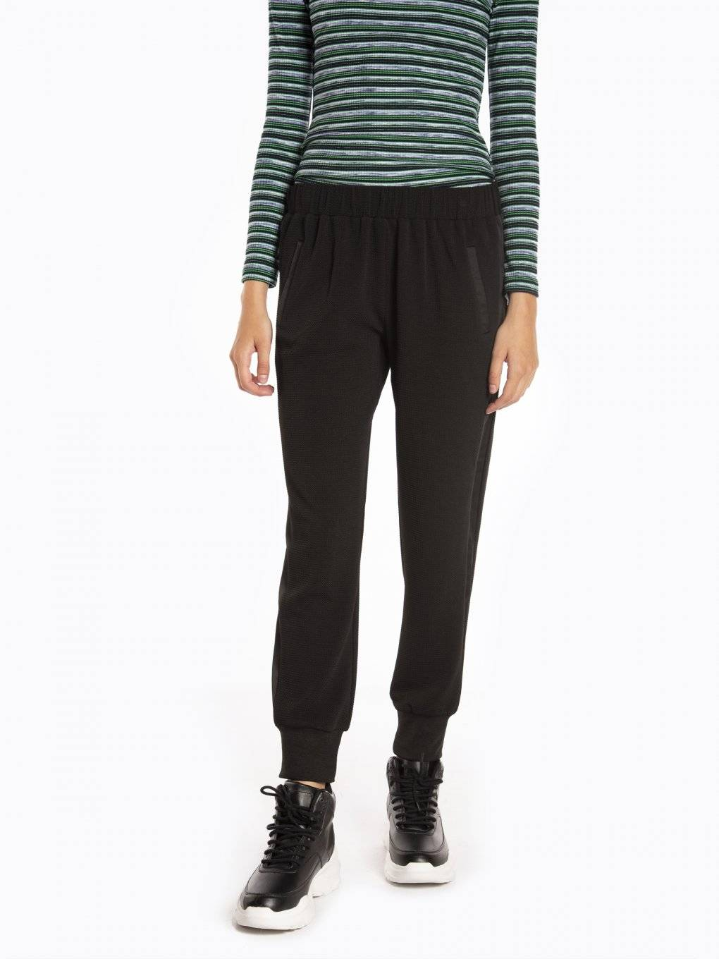 Combined stretchy jogger trousers