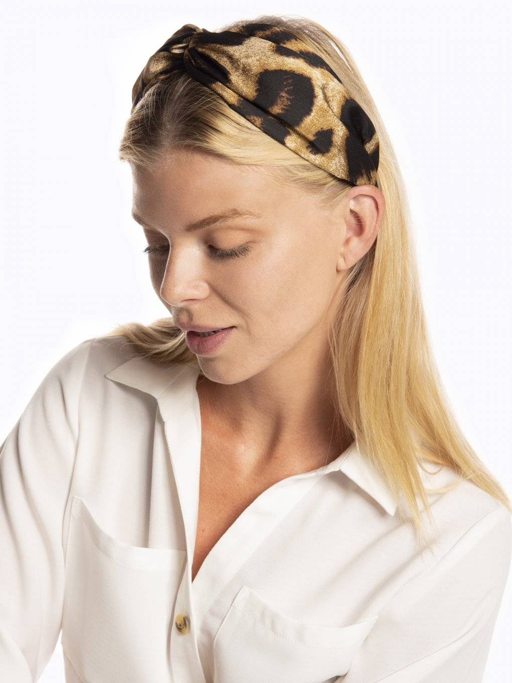 Animal print headdress