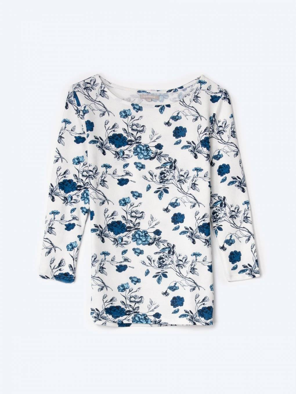 Floral print 3/4 sleeve top