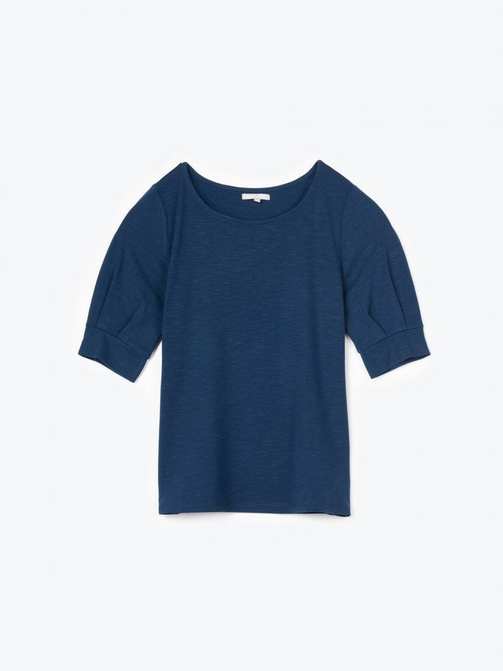 T-shirt with puff sleeves