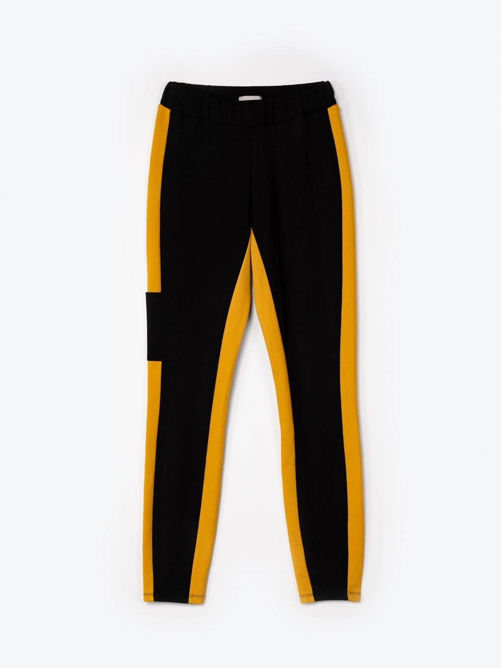 Elastic taped skinny trousers