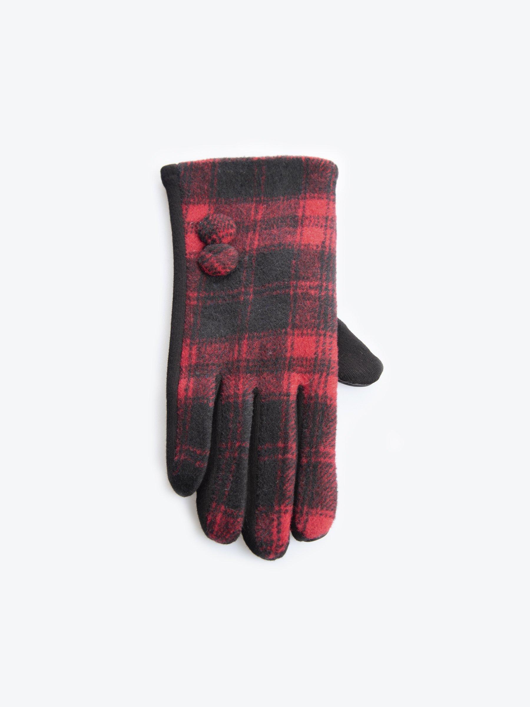 Size 7 Tartan Plaid Women Gloves