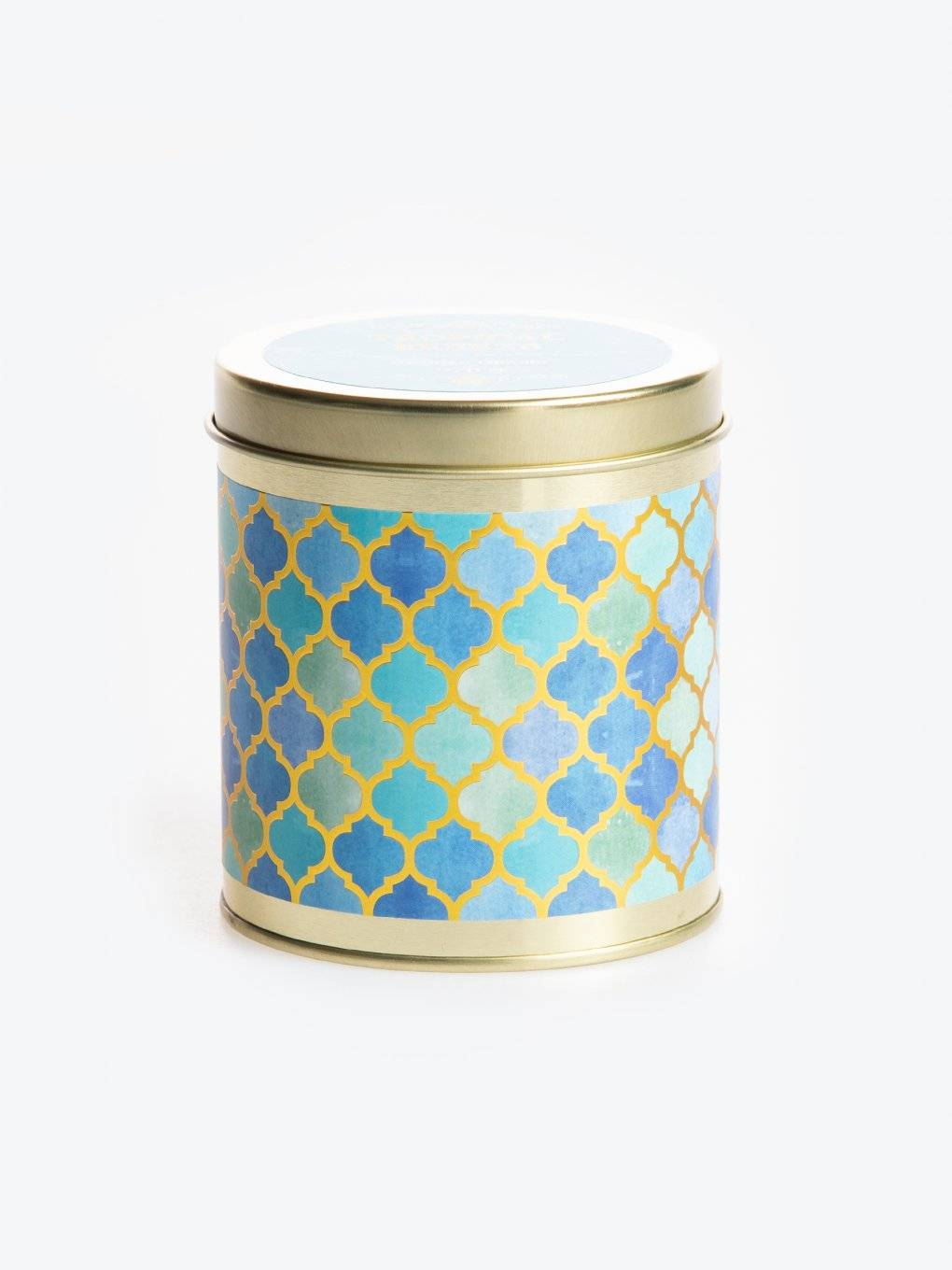 Tropical breeze scented tin candle