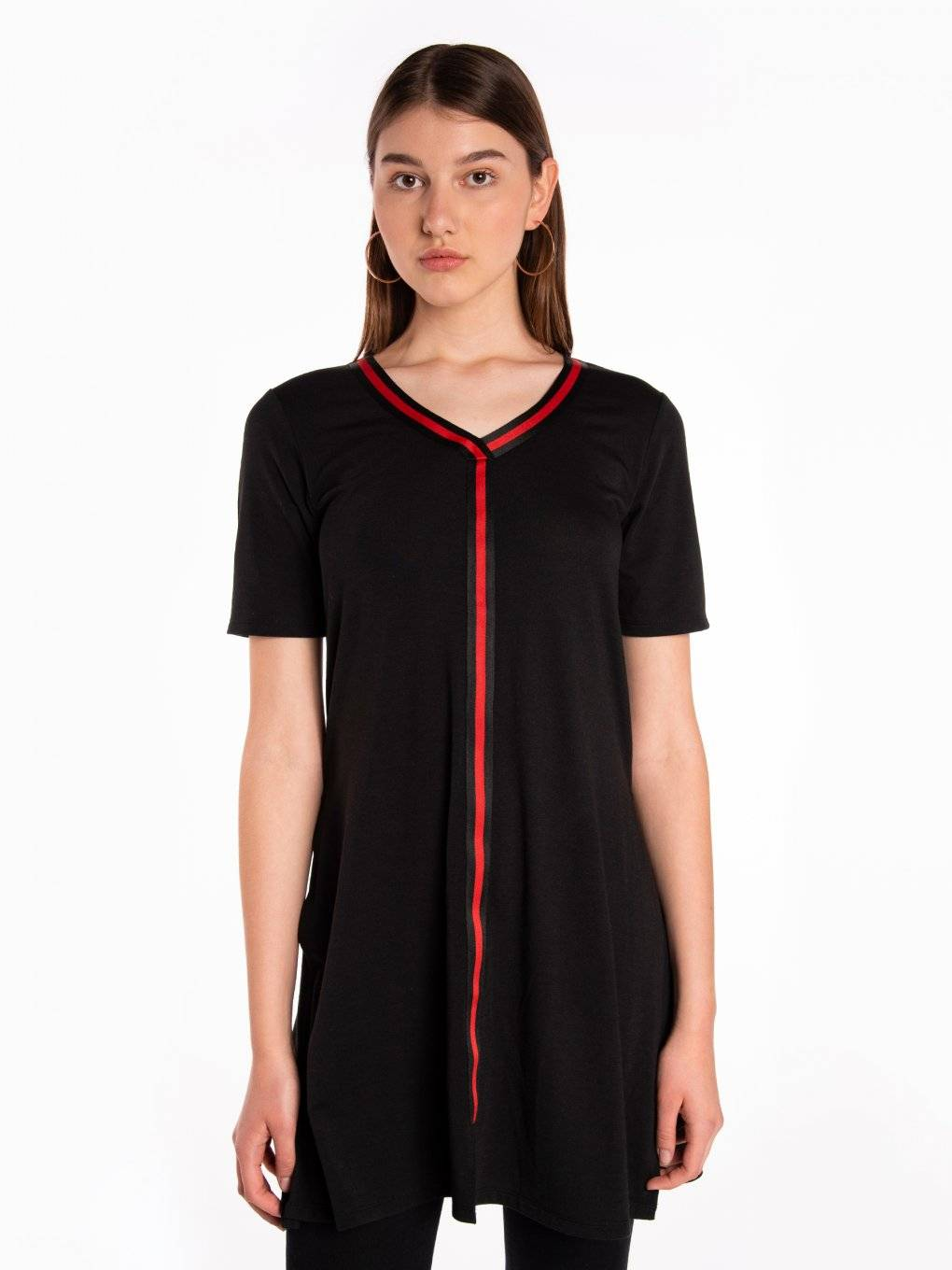Longline short sleeve top