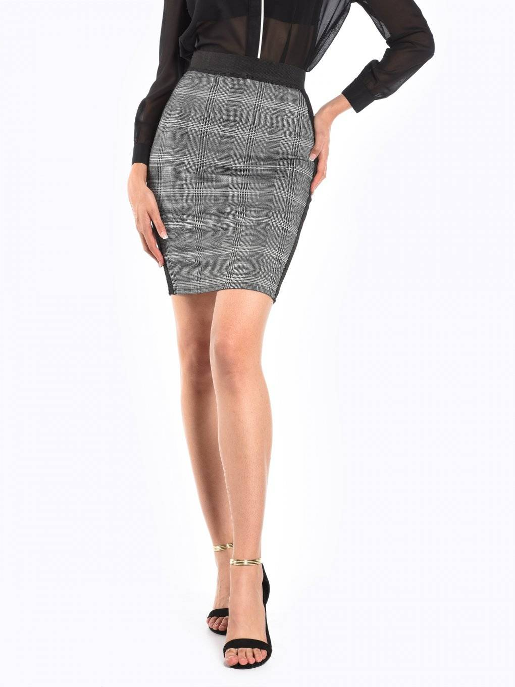 Plaid bodycon skirt