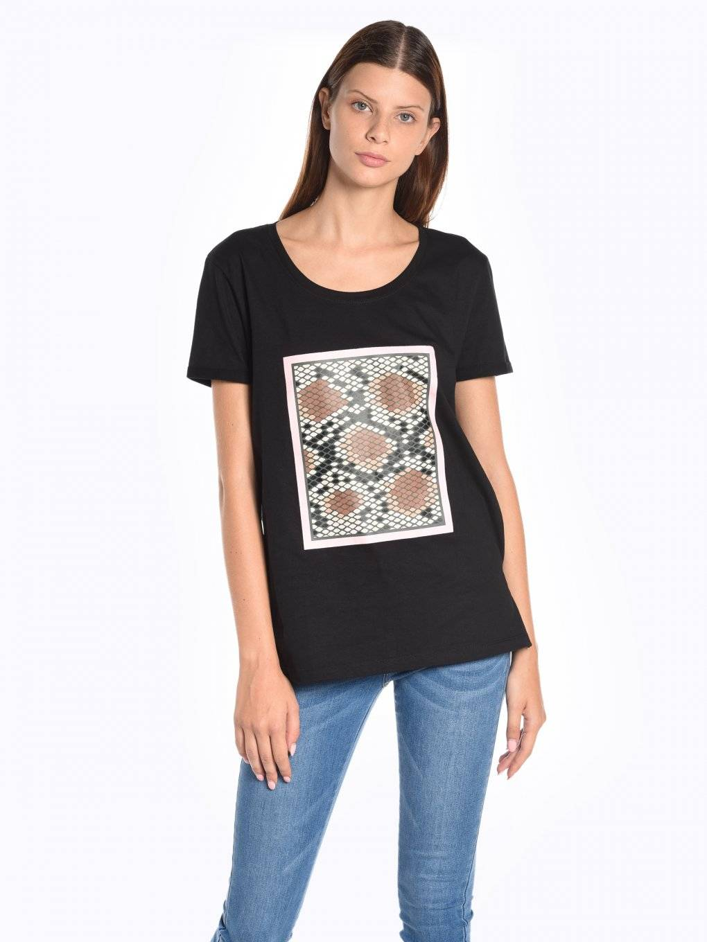 T-shirt with animal print