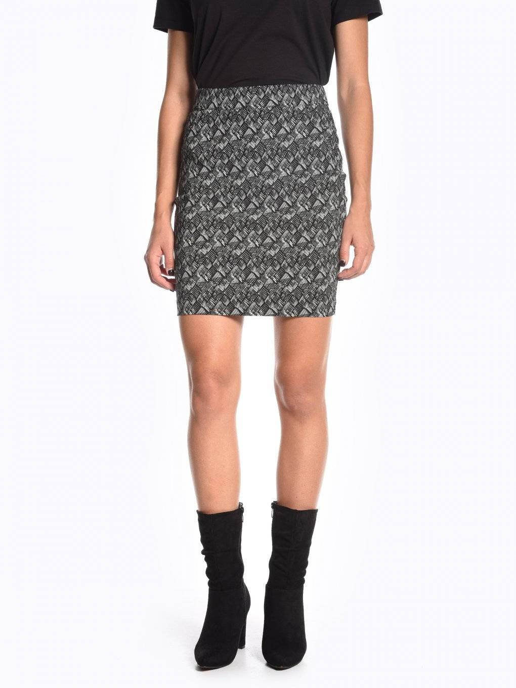 Bodycon printed skirt