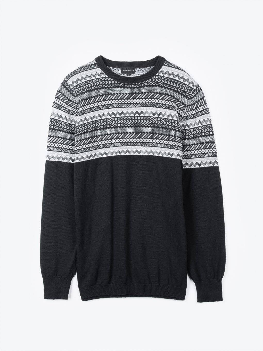 Jacquard cotton jumper