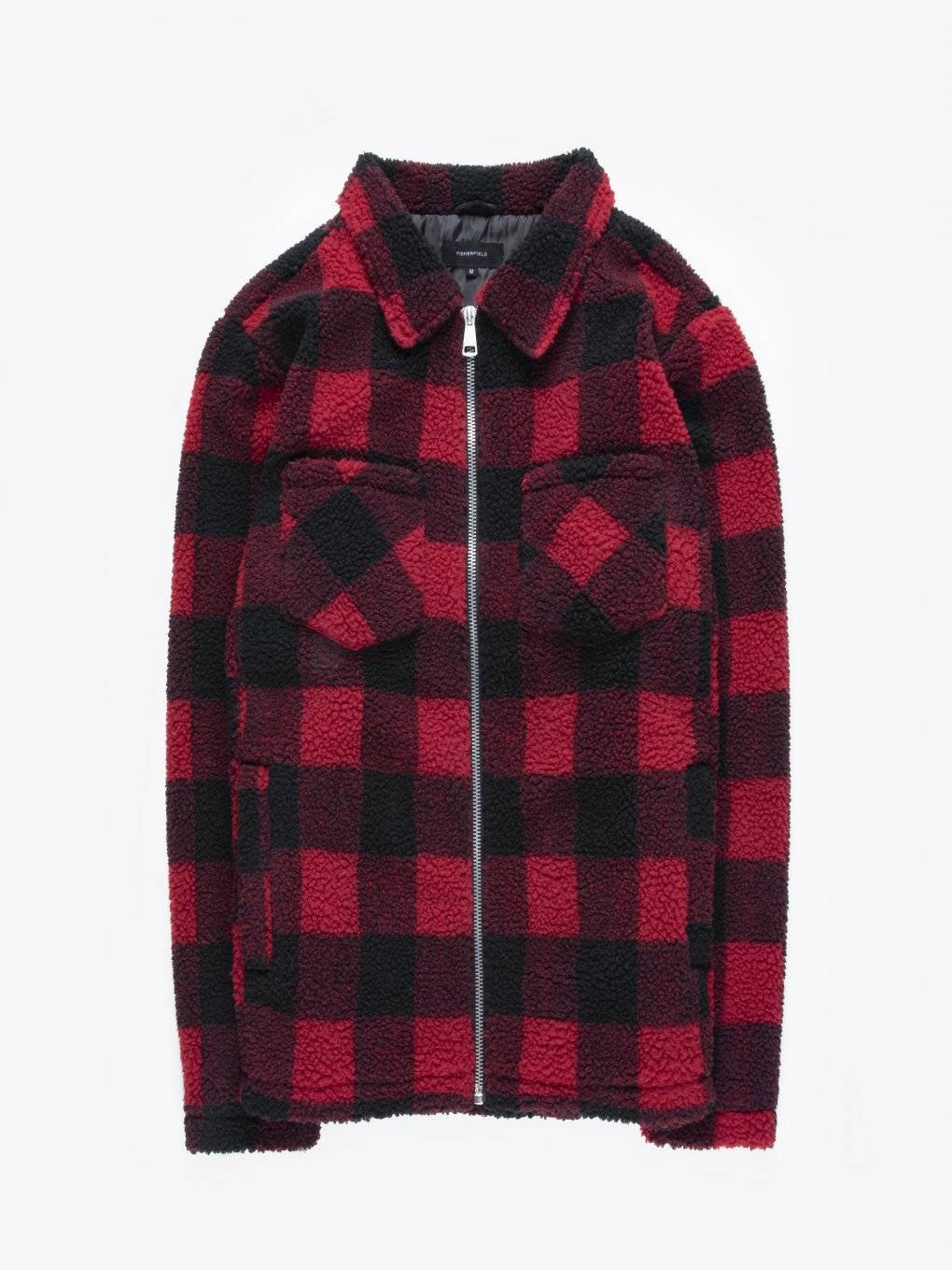 Plaid zip-up sweatshirt