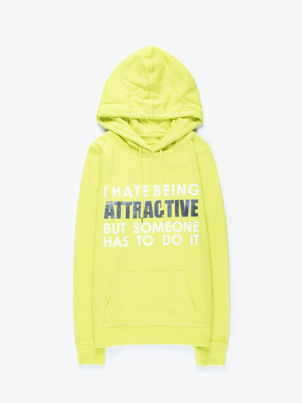 Hoodie with message print