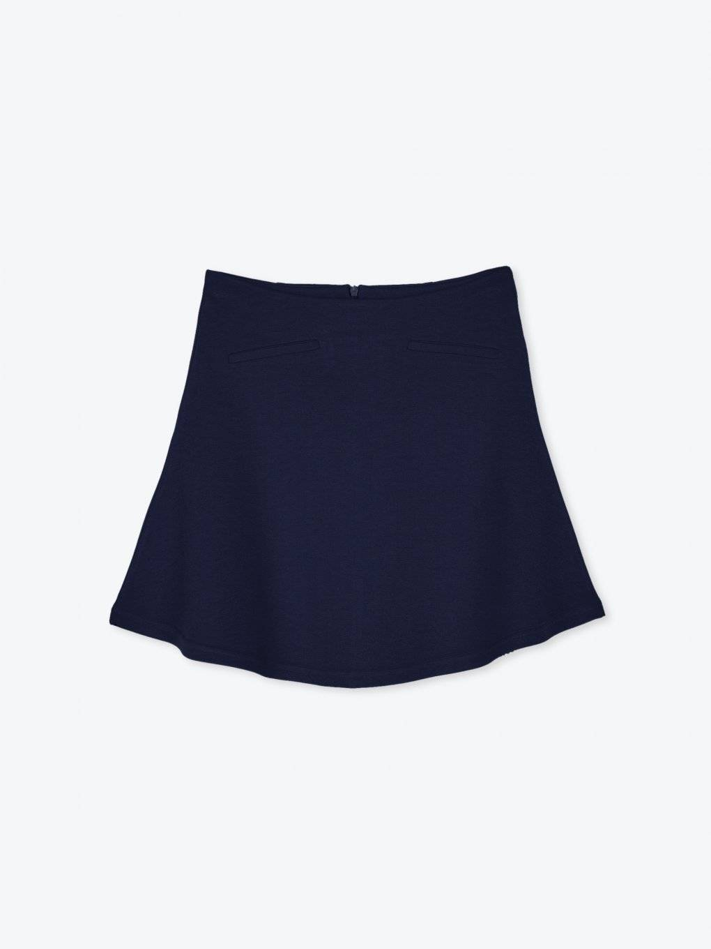 A-line skirt with faux pockets