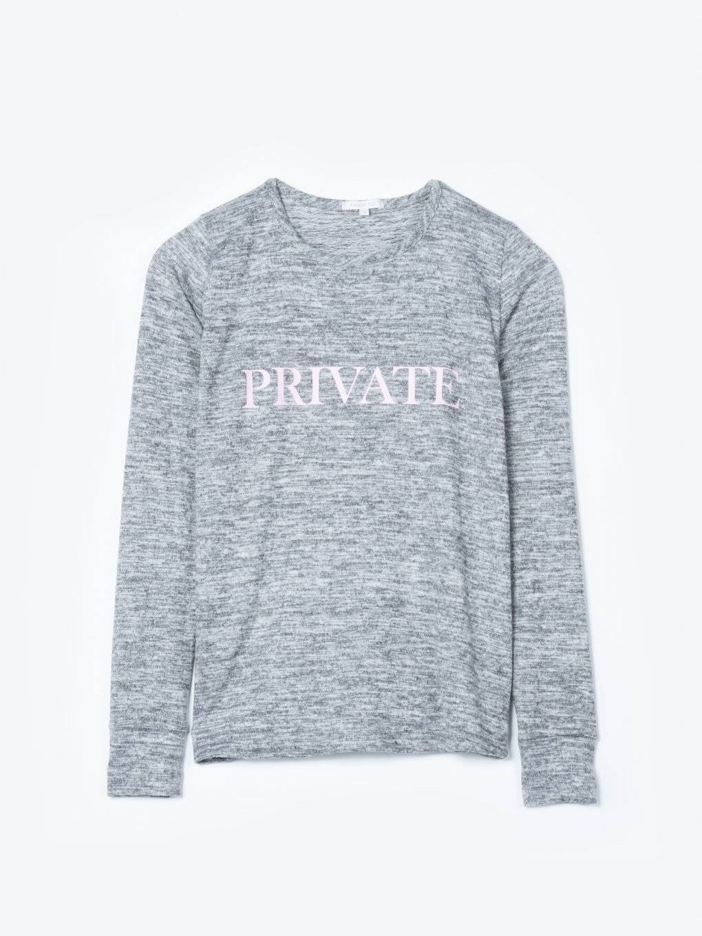 Marled sweatshirt with print