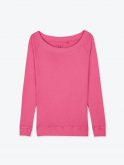 Basic long sleeve wide collar t-shirt