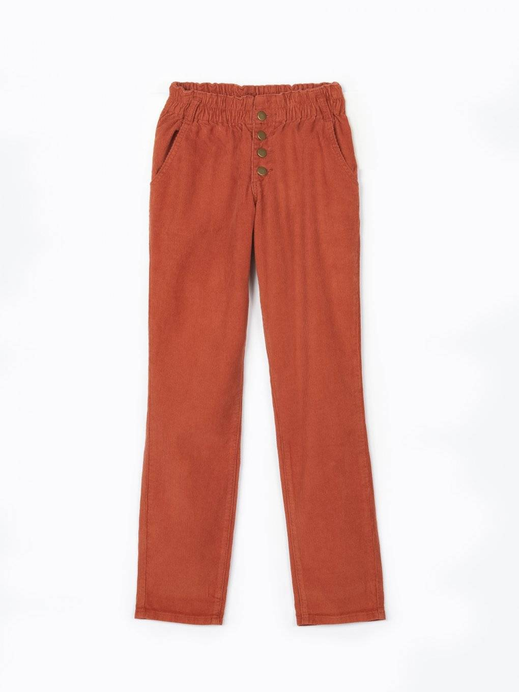 Corduroy regular fit trousers