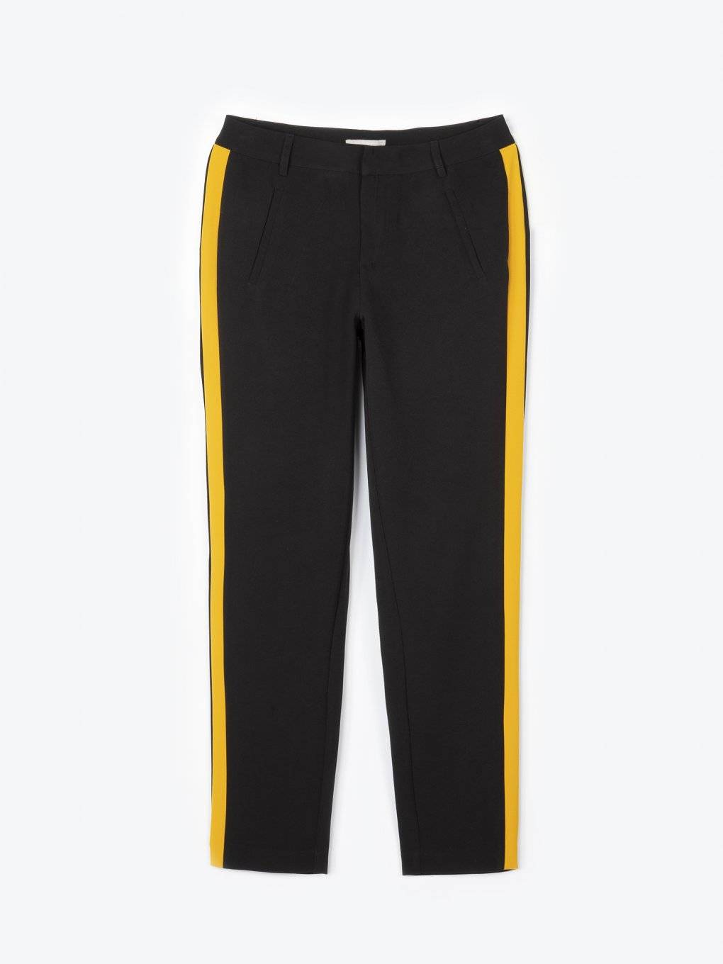 Taped straight fit trousers