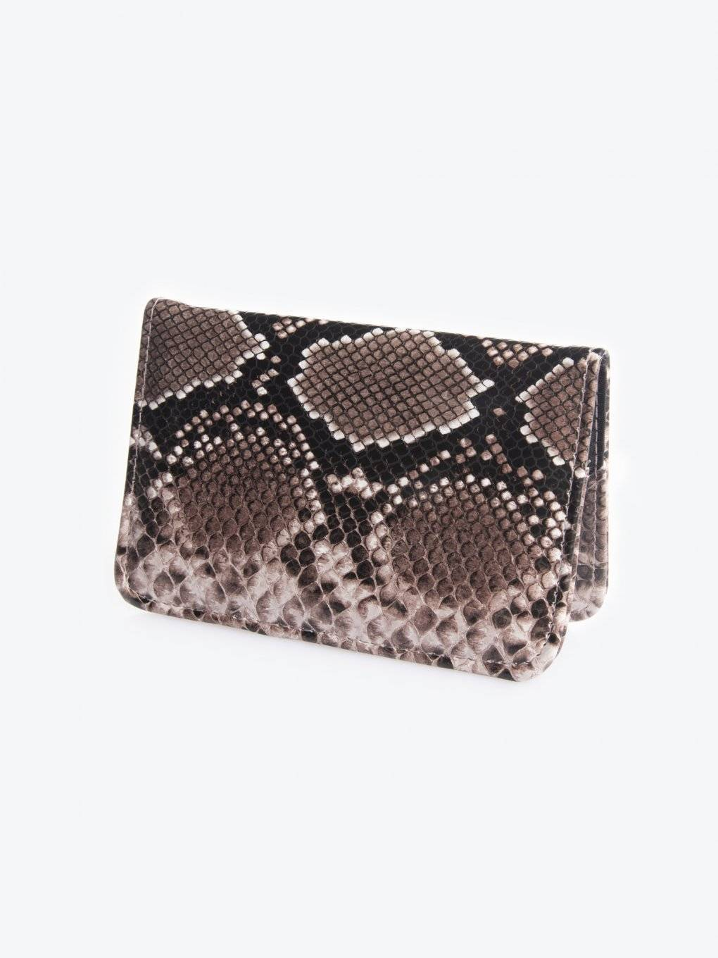Passport case with snake skin effect