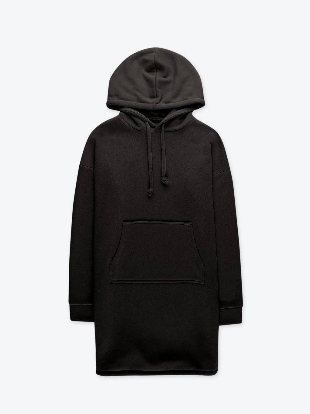Longĺine hoodie with kangaroo pocket