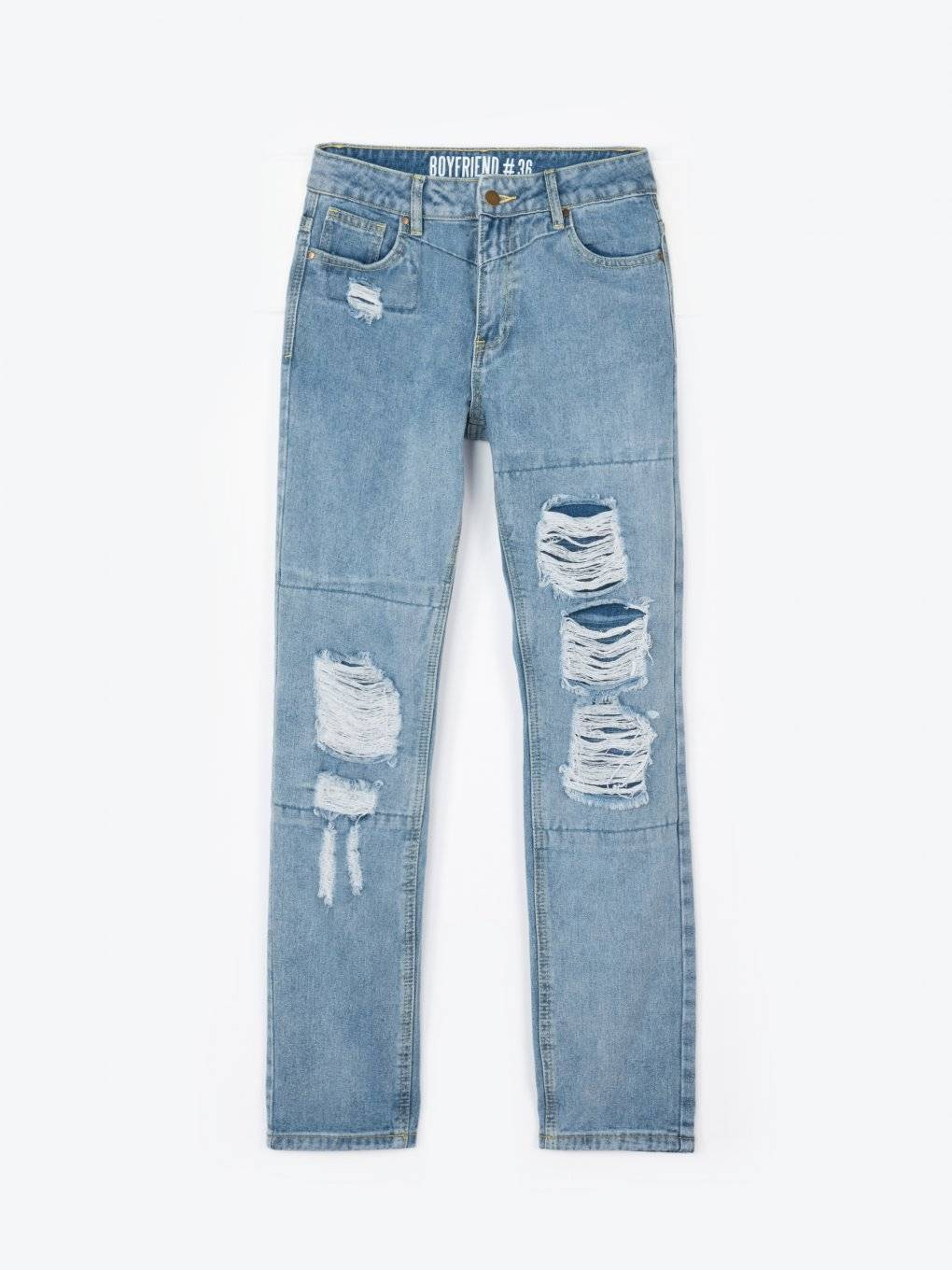 Damaged boyfriend jeans