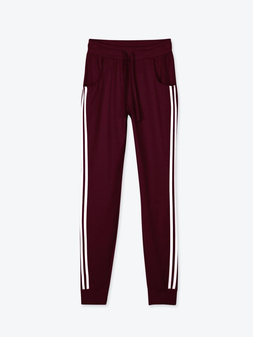 Sweatpants with side stripes