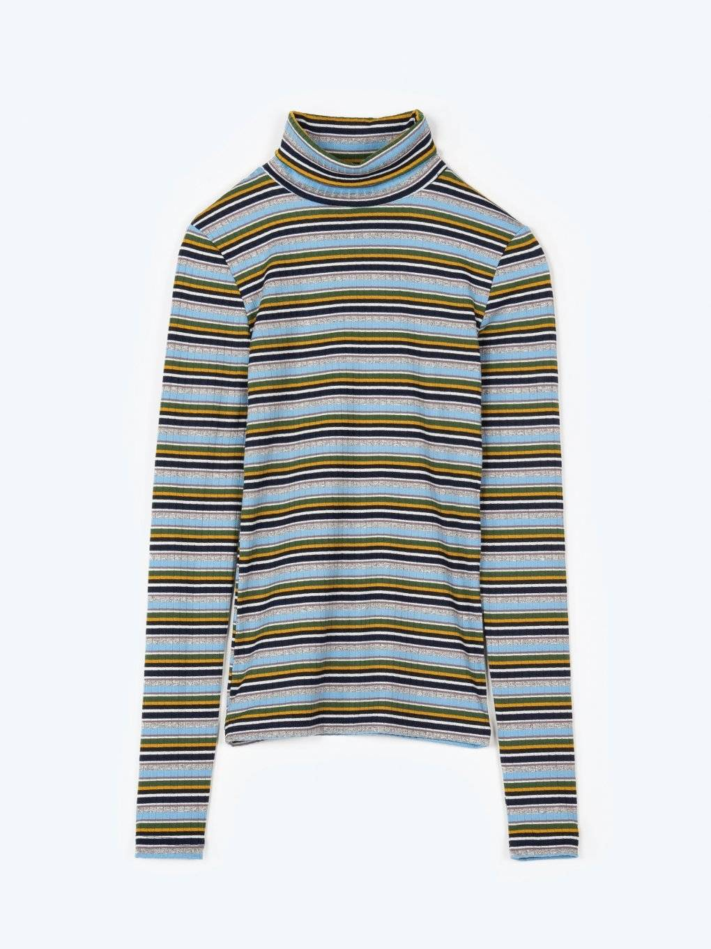 Striped roll neck t-shirt