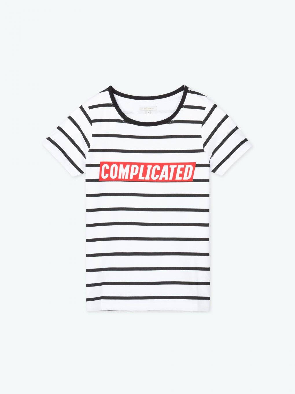 Striped t-shirt with message print