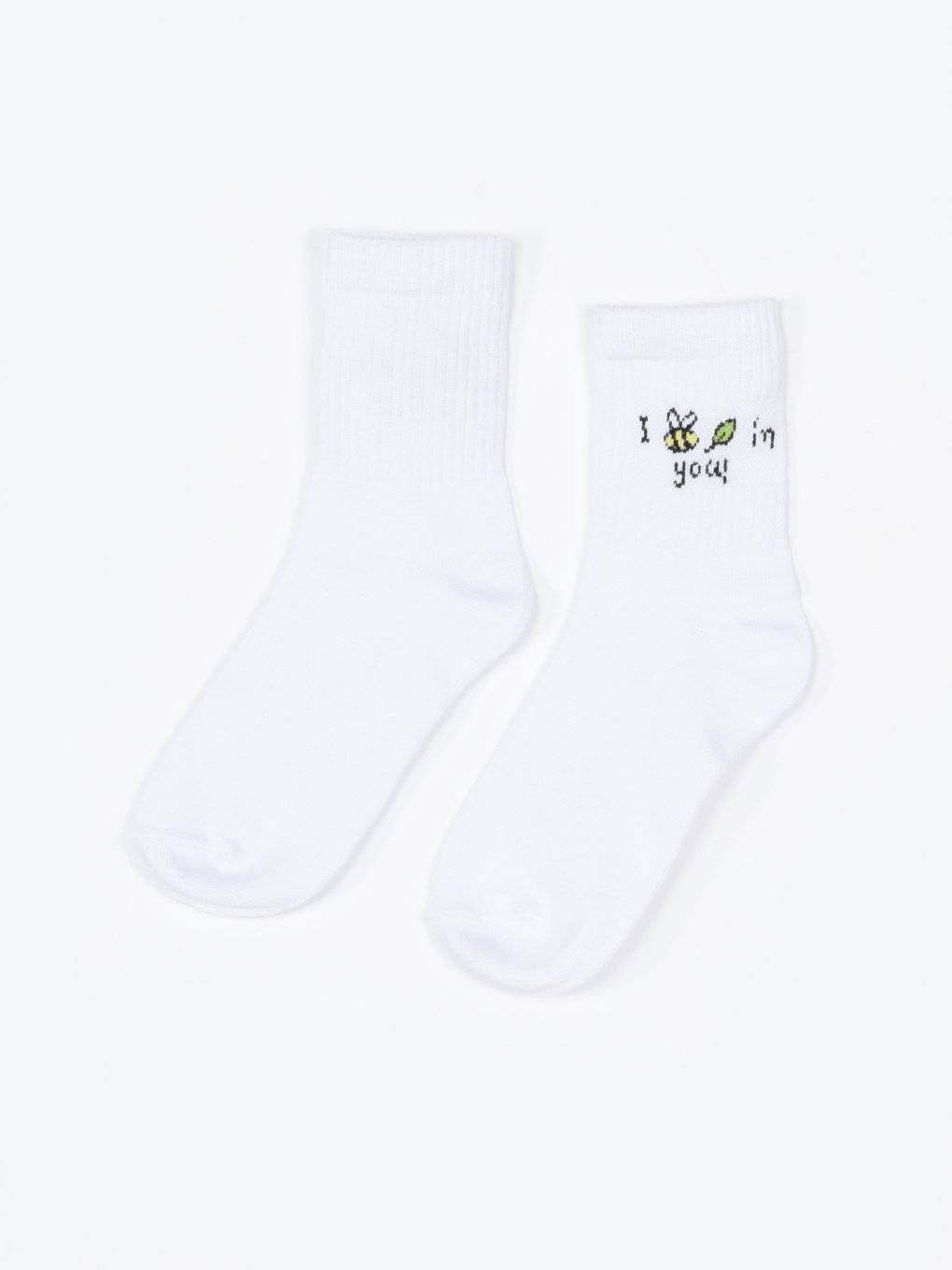 Crew socks with cute design
