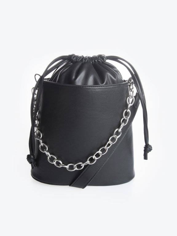 Bucket bag with chain detail