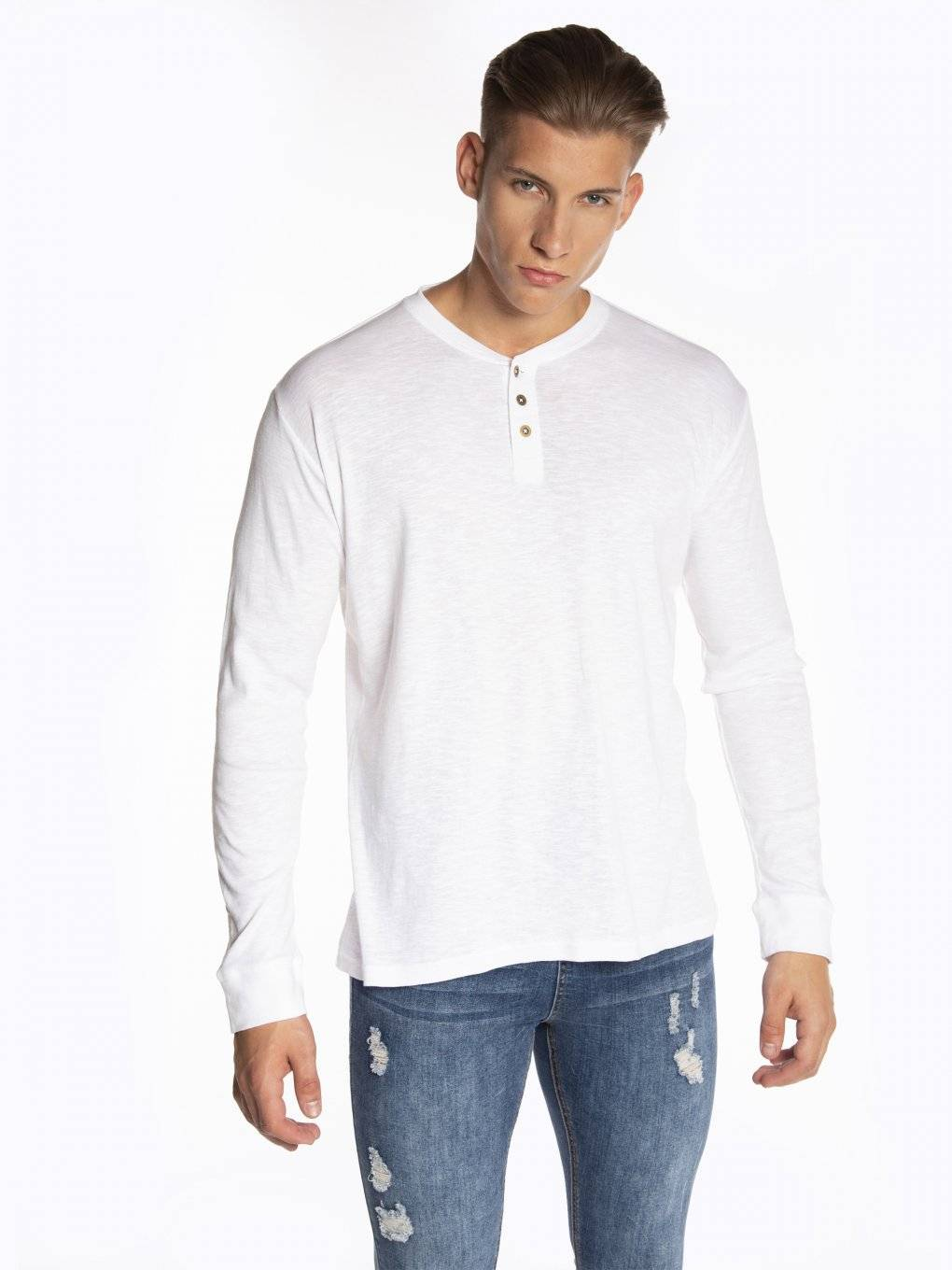 Basic  long sleeve henley