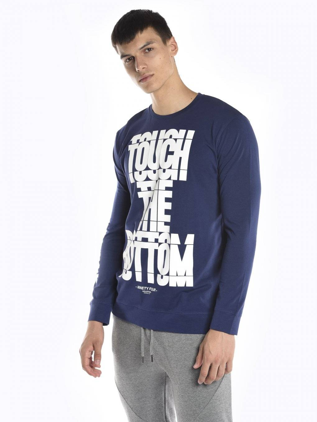 Long sleeve t-shirt with message print