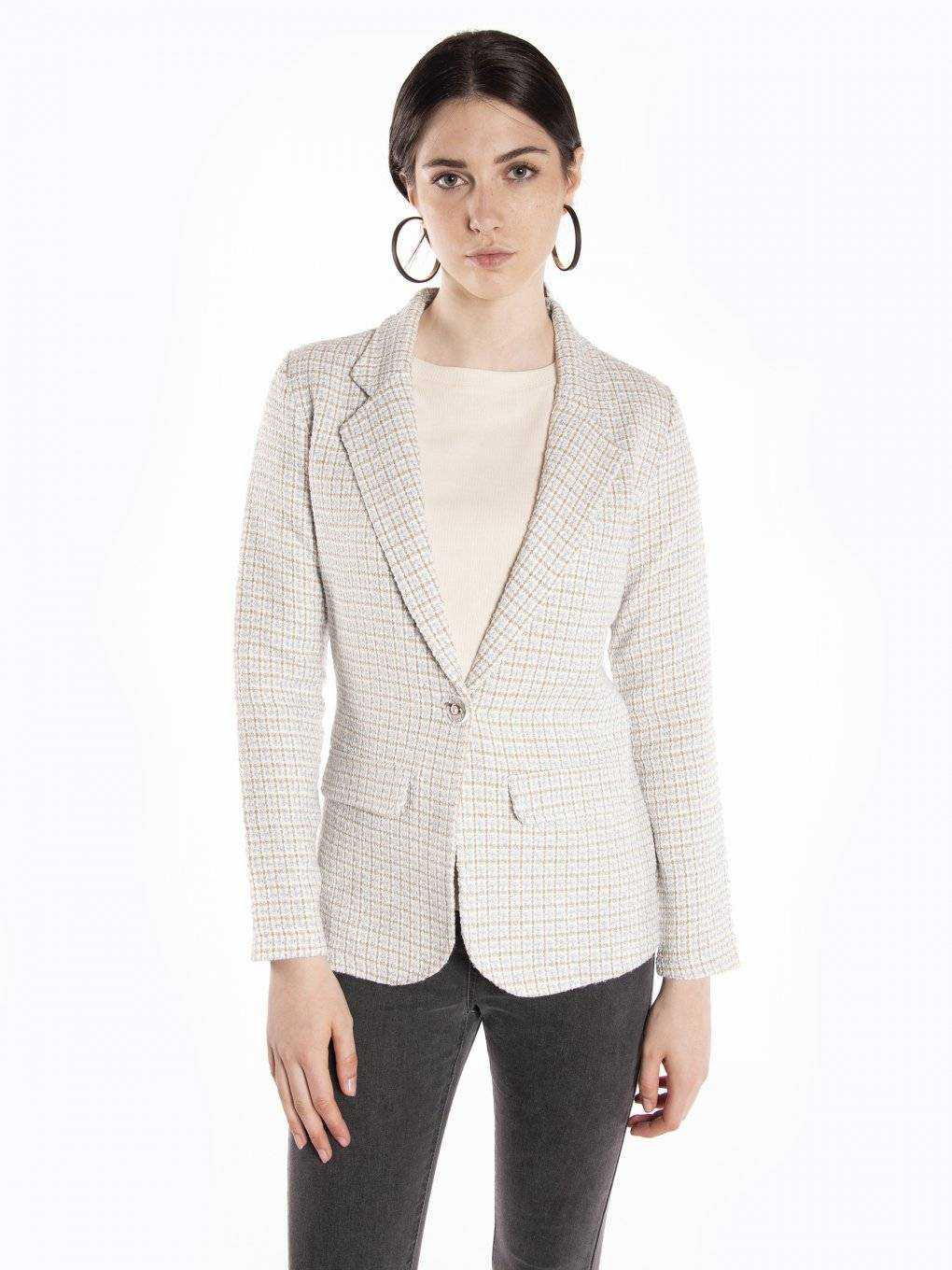 Structured single button blazer