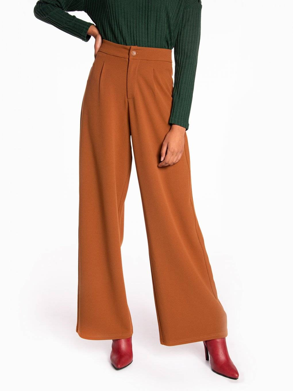 Stretchy wide leg trousers