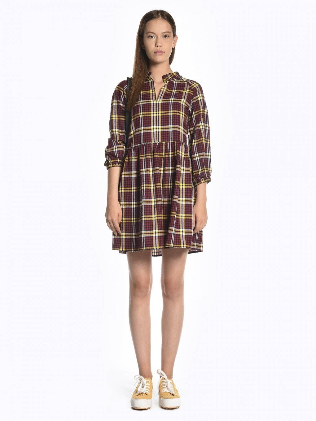 Plaid cotton dress