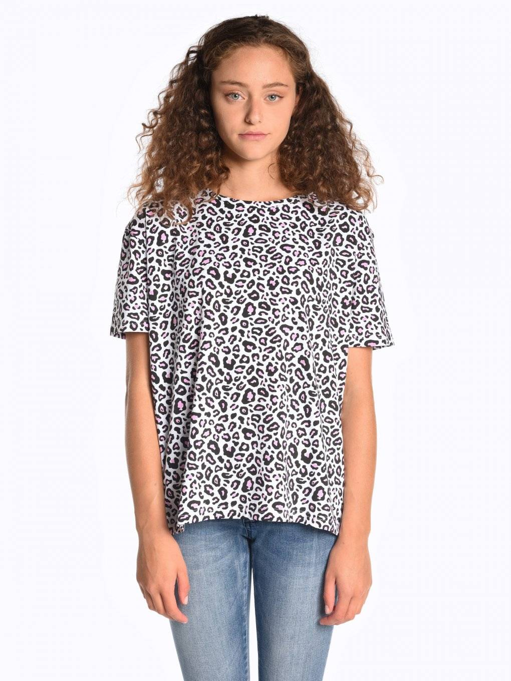 Animal print short sleeve t-shirt