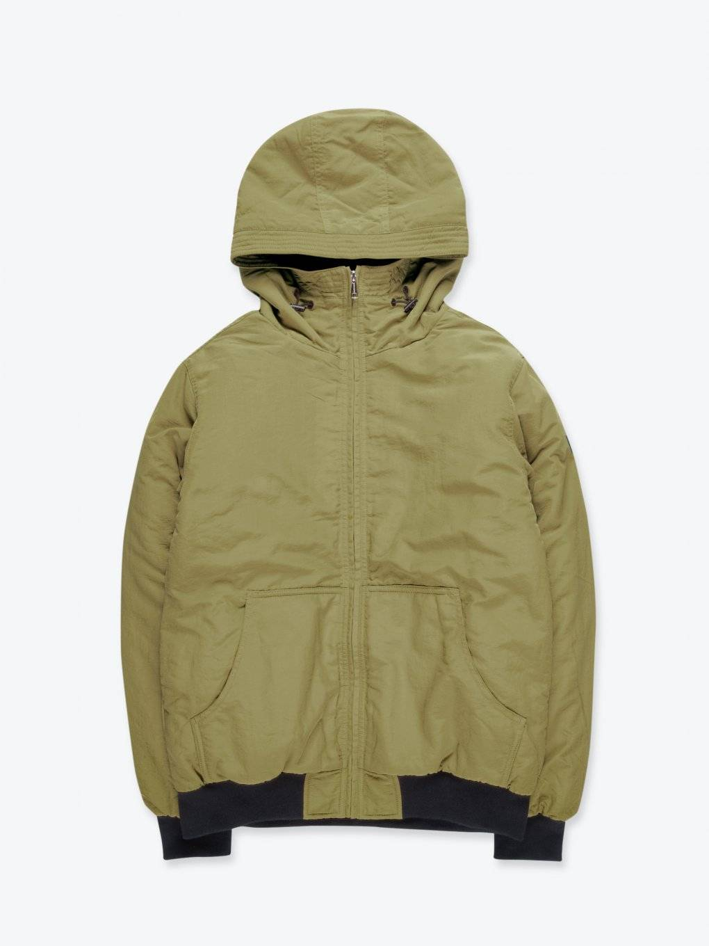 Sherpa lined padded jacket with hood