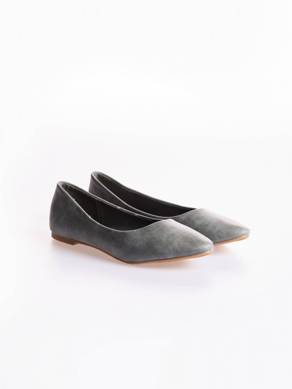 Faux leather ballerinas