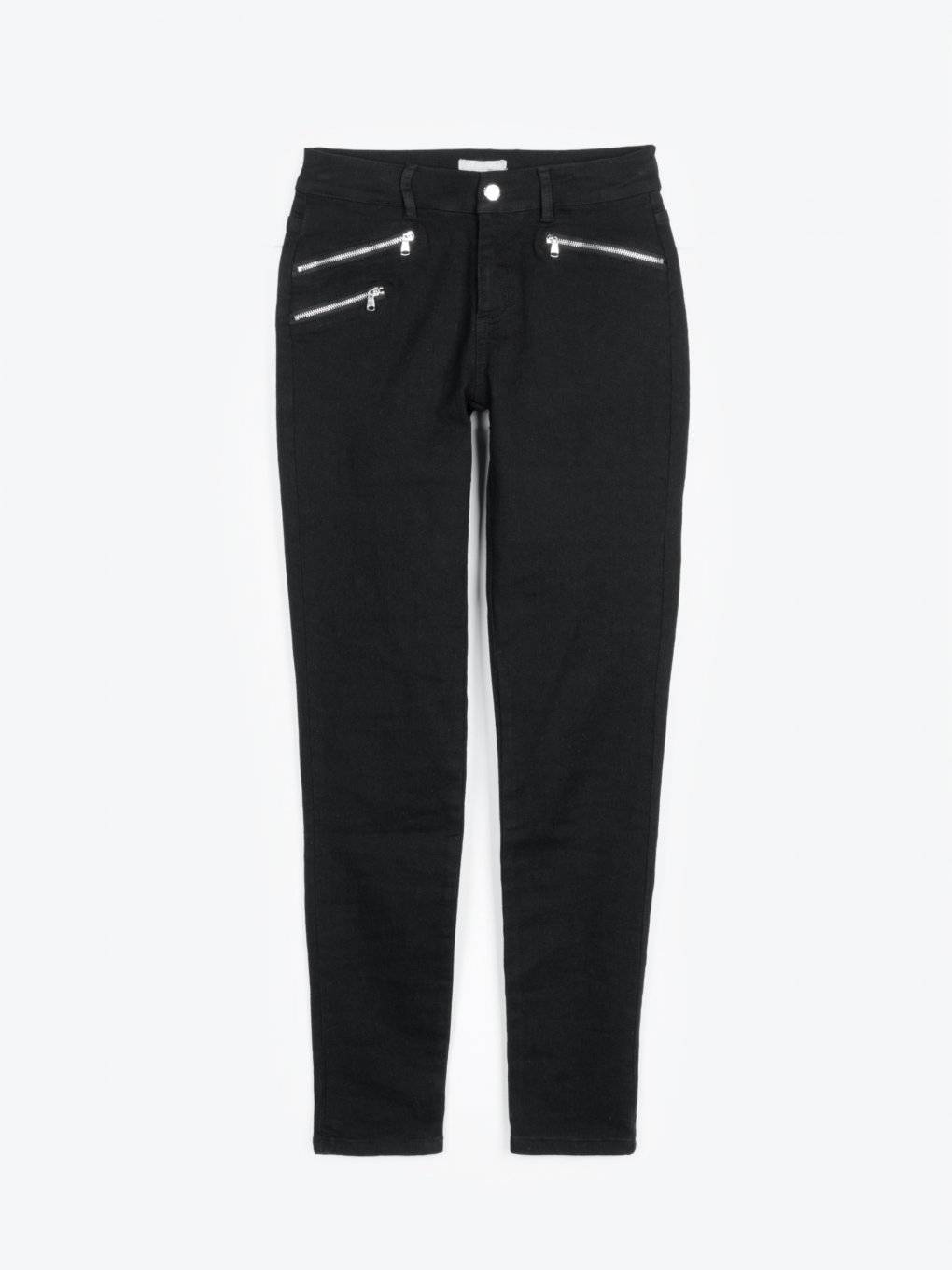 Skinny sretchy trousers with zippers