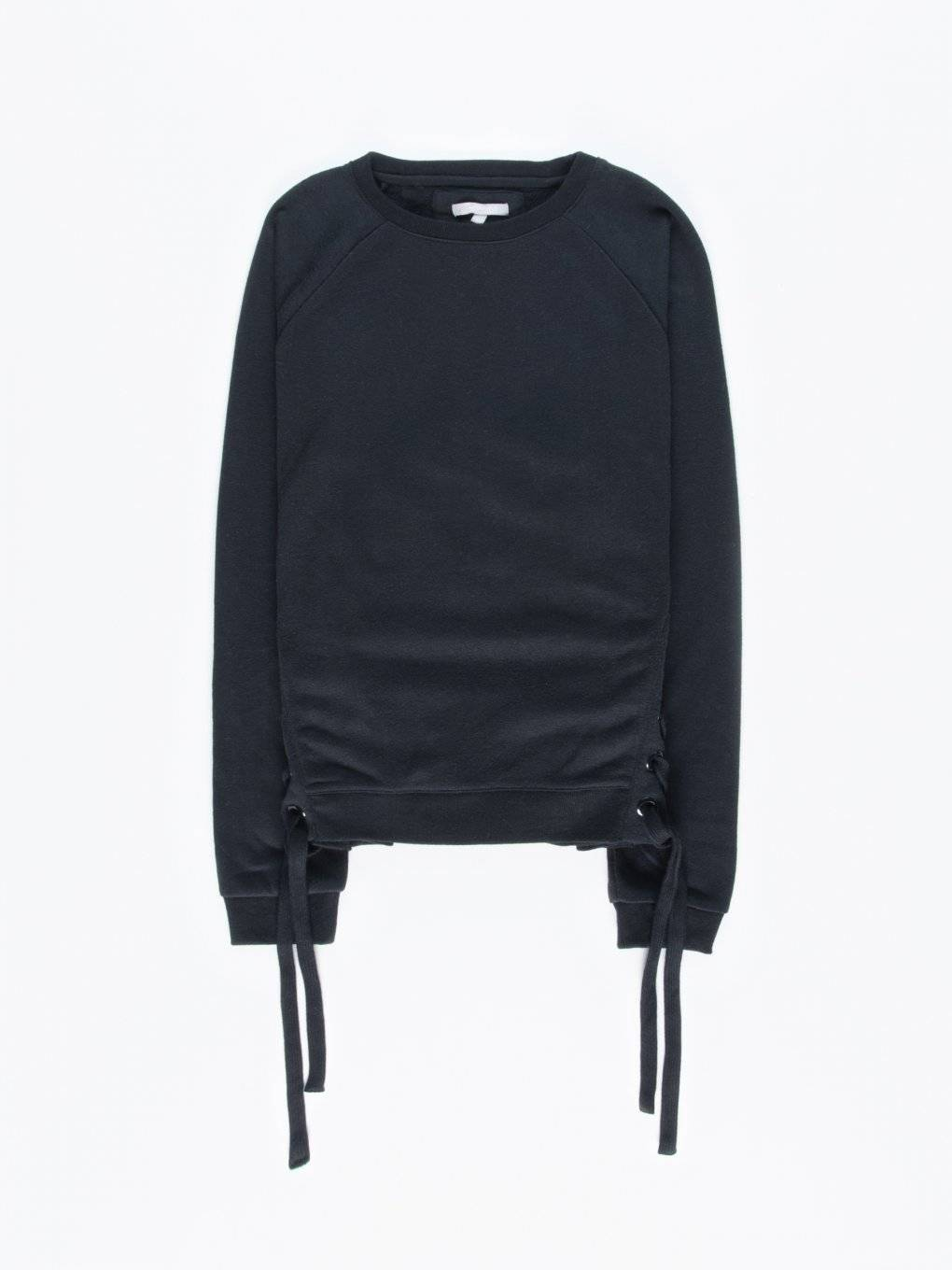 Sweatshirt with side lacing