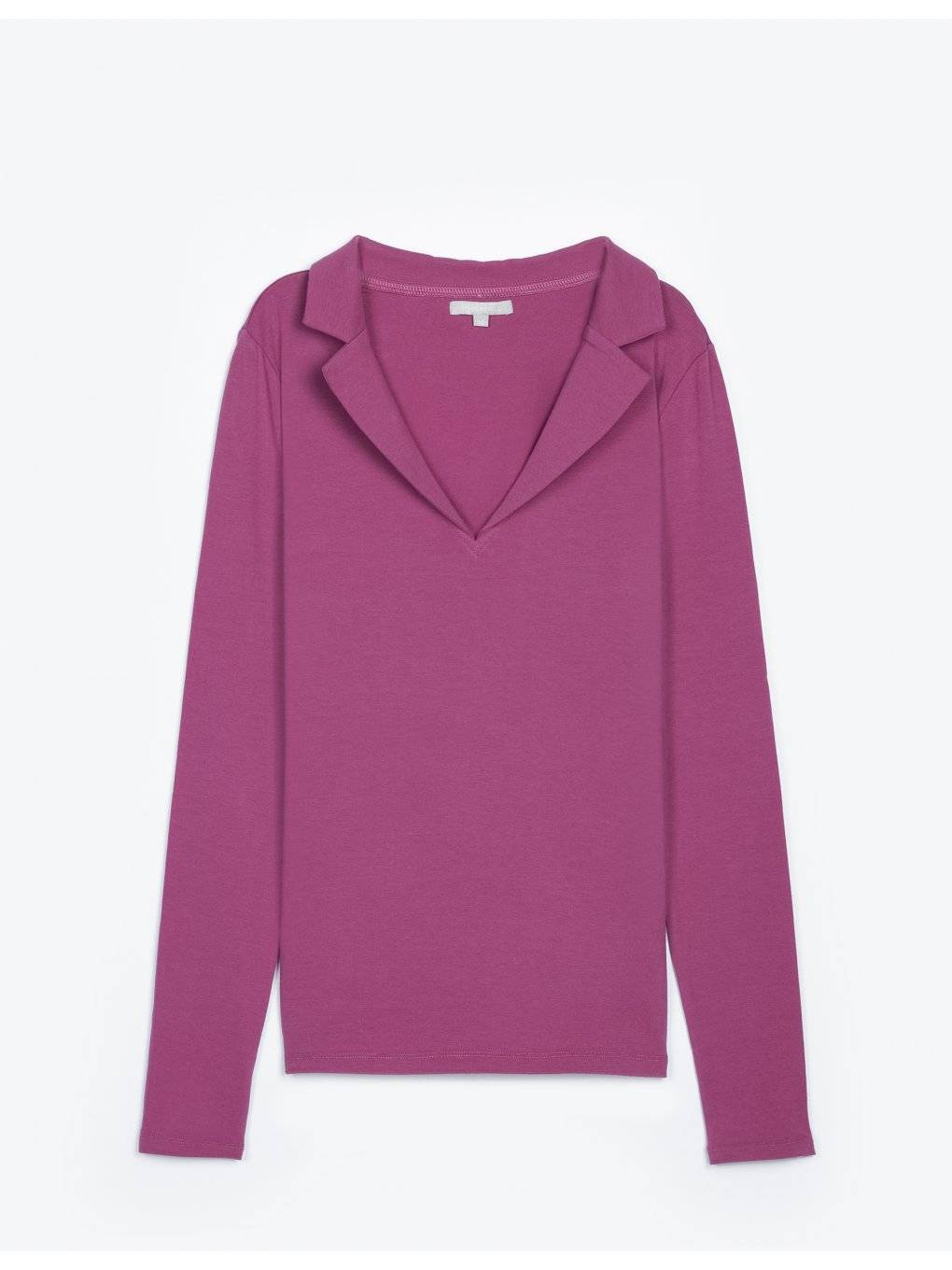 Long sleeve t-shirt with lapels