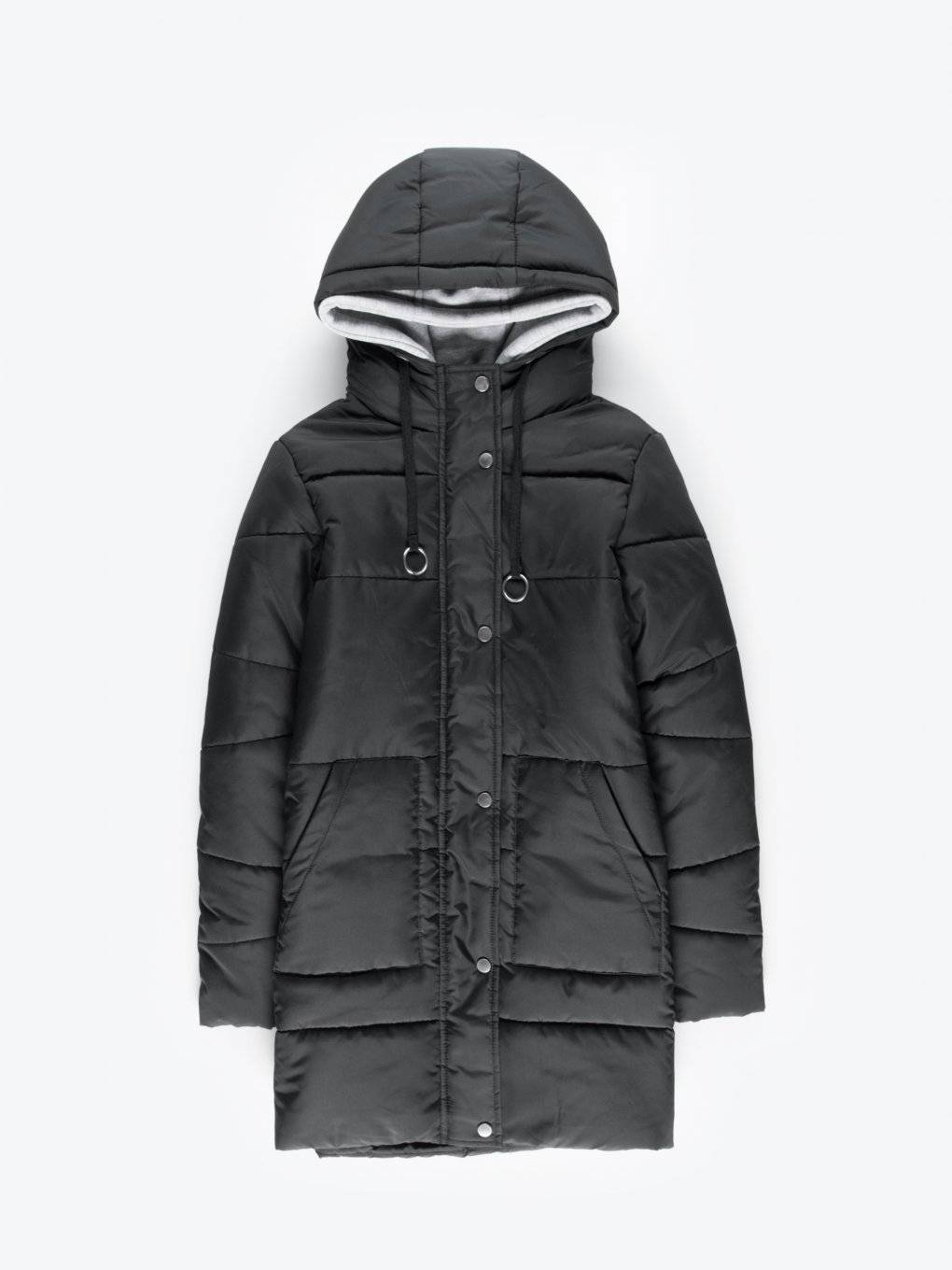 Longline combined jacket with removable inner part