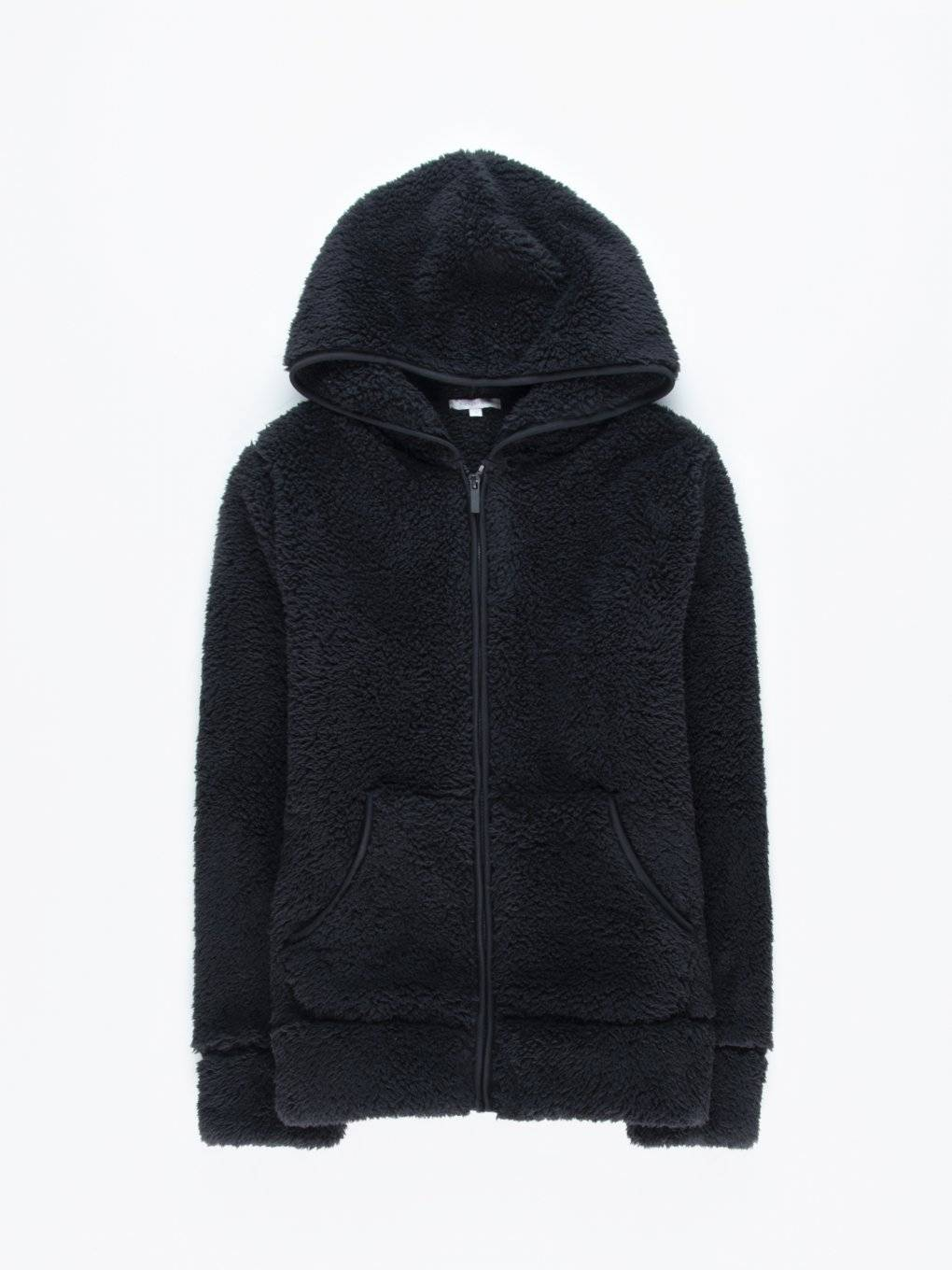Fluffy zip-up hoodie